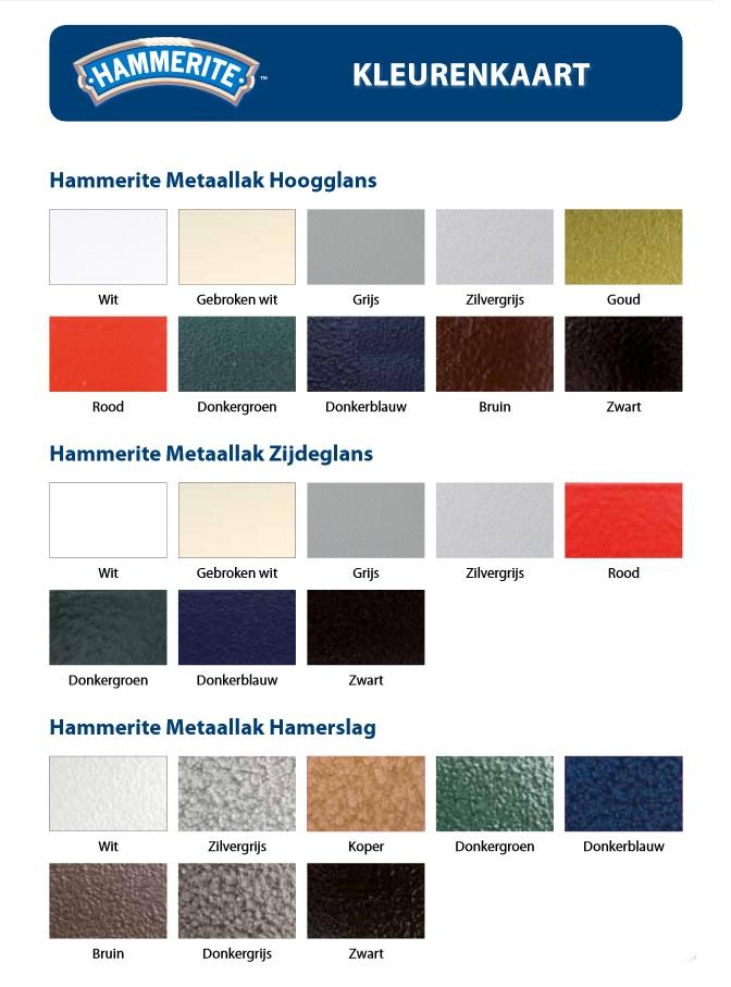 Hammerite radiatorlak kleuren
